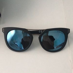 Henri Bendel black reflective sunglasses